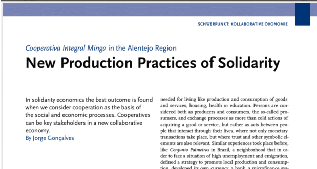New production practices of solidarity
