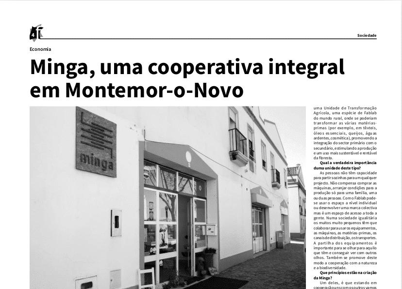 A Minga na Folha de Montemor
