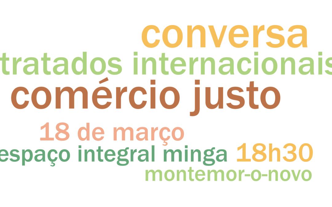 Conversa sobre Comércio Justo e Tratados Internacionais